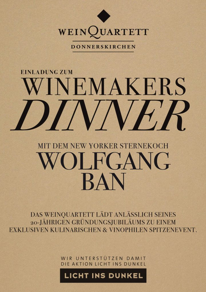 winemakers dinner mit new yorker sternekoch wolfgang ban ausgebucht weingut sommer. Black Bedroom Furniture Sets. Home Design Ideas